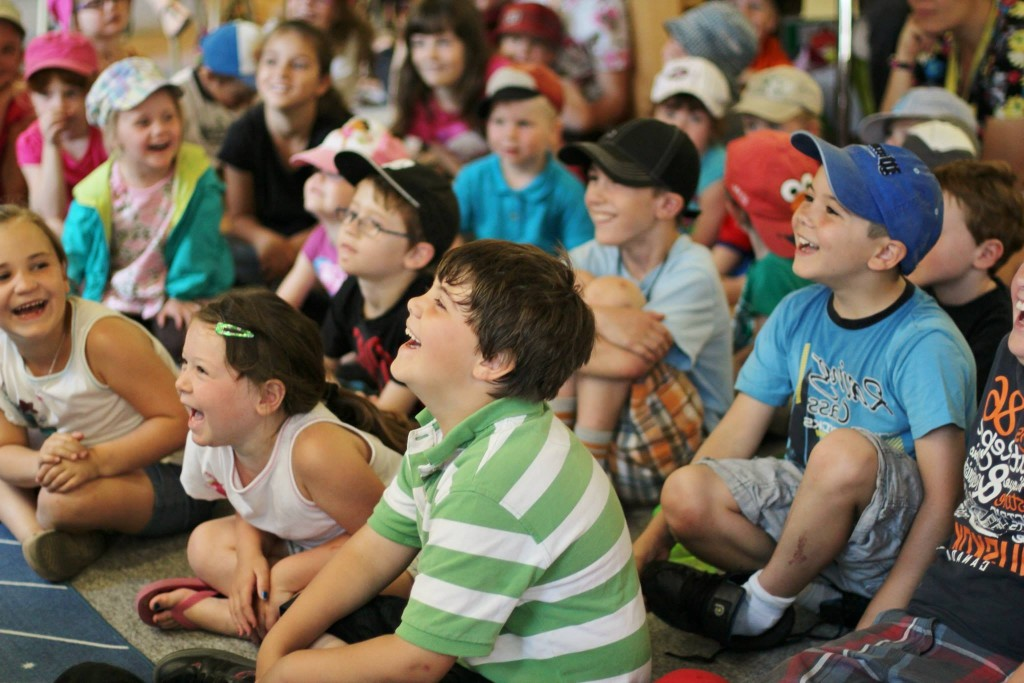 kids audience of magic show