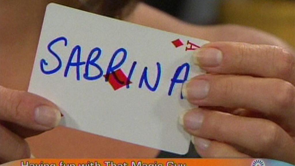 Sabrina Storm on peter mennie daytime